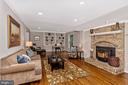 Family Room w/ fireplace - 14508 TRIPLE CROWN PL, NORTH POTOMAC