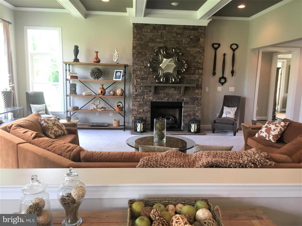 Inviting Family Room with Gas Fireplace - 16028 WATERFORD MEADOW PL, HAMILTON