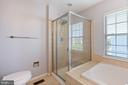 Stand up shower in Master Bath - 126 FIELDSTONE CT, FREDERICK