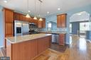 Kitchen bar seating - 126 FIELDSTONE CT, FREDERICK