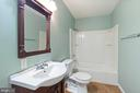 Lower level full bath - 126 FIELDSTONE CT, FREDERICK