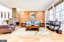 Living Room w/ Gas Fireplace - 1215 INGRAHAM ST NW, WASHINGTON
