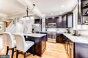 Kitchen w/ Island - 1215 INGRAHAM ST NW, WASHINGTON
