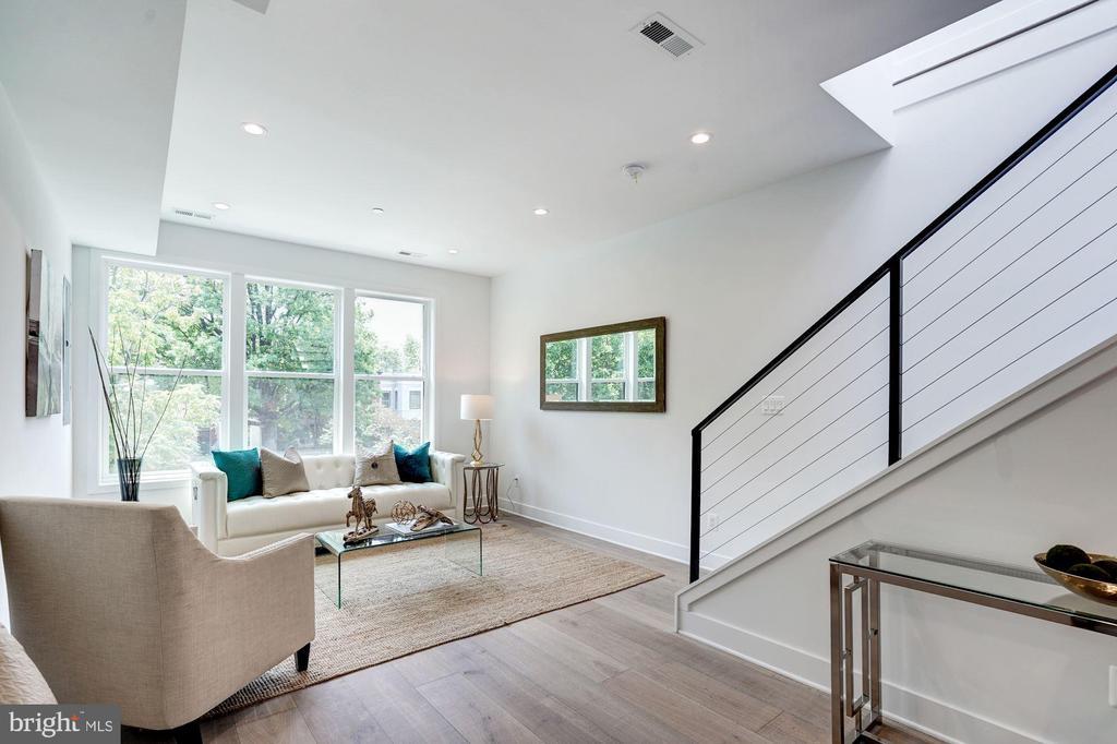 Living Room with Large Windows - 410 K ST NE #2, WASHINGTON