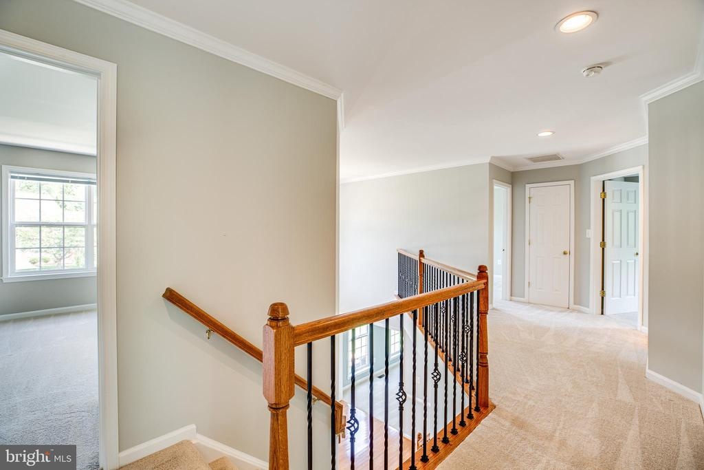 Wrought iron railings leading upstairs - 22 SAINT CHARLES CT, STAFFORD