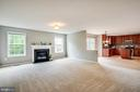 Spacious family room with gas fireplace - 22 SAINT CHARLES CT, STAFFORD