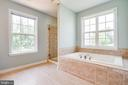 Jetted tub as well as a large tiled shower - 22 SAINT CHARLES CT, STAFFORD