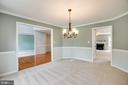 Formal dining room with crown molding & chair rail - 22 SAINT CHARLES CT, STAFFORD