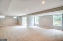 The basement has a slider walkout to the backyard - 22 SAINT CHARLES CT, STAFFORD