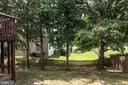 Trees surround the backyard area. - 31 AURELIE DR, FREDERICKSBURG