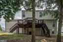 Deck features two staircases. - 31 AURELIE DR, FREDERICKSBURG