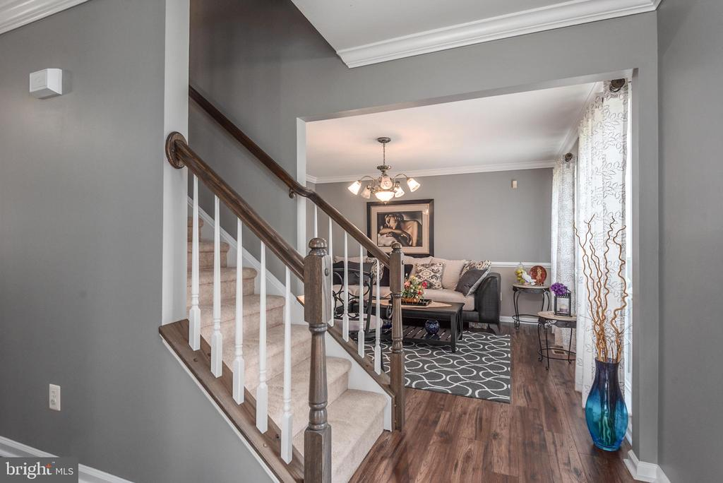 View of the hall and stairs to upper level - 31 AURELIE DR, FREDERICKSBURG