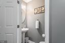 Main floor half bath w/ new toilet - 31 AURELIE DR, FREDERICKSBURG