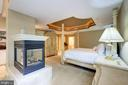 Owners Bedroom with gas fireplace - 11552 MANORSTONE LN, COLUMBIA