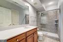 Lower level bath - 11552 MANORSTONE LN, COLUMBIA