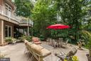 Patio Area surrounded by wooded area - 11552 MANORSTONE LN, COLUMBIA