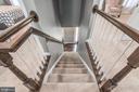 Stairway view, bannistar professionally painted. - 31 AURELIE DR, FREDERICKSBURG
