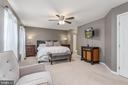 Master suite w/wall of windows & Ceiling fan. - 31 AURELIE DR, FREDERICKSBURG