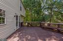 Built in benches on the deck! - 31 AURELIE DR, FREDERICKSBURG