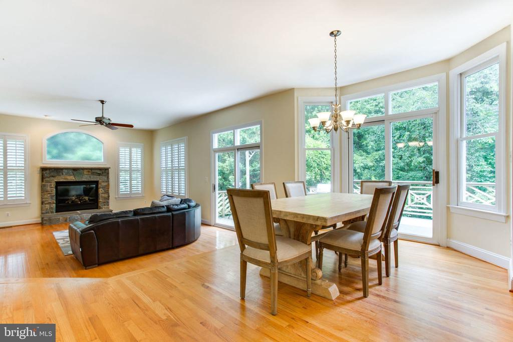 Open Main Level  - Family Room off Kitchen - 12000 CREEKBEND DR, RESTON