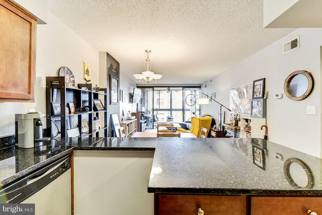 Update Eat-In Kitchen with Island - 1001 N RANDOLPH ST #607, ARLINGTON