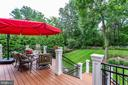 Deck-- enjoy great view of the Yard & Landscaping. - 334 AYR HILL AVE NE, VIENNA