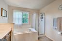 Sunken Tub and Window in Master Bathroom - 7 BEECH TREE CT, STAFFORD