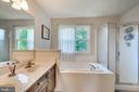 NEW paint in Master Bathroom Double Sink Vanity - 7 BEECH TREE CT, STAFFORD