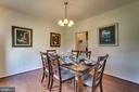 Formal Dining Room with Hardwood & Chandelier - 7 BEECH TREE CT, STAFFORD