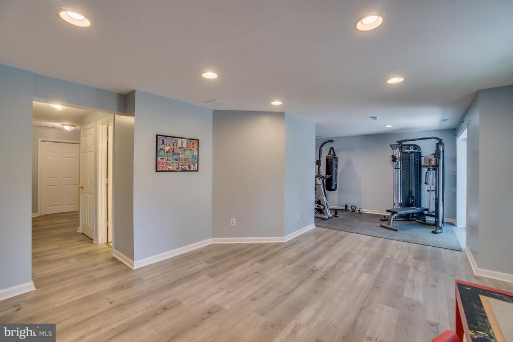 Large Recreation room with workout area - 8319 SUFFOLK WAY, GAINESVILLE