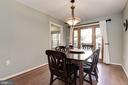 Dining Room with Chandlier - 5720 CROWNLEIGH CT, BURKE