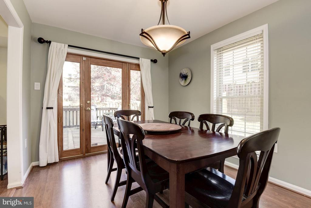 Dining Room with Double Doors to Deck - 5720 CROWNLEIGH CT, BURKE