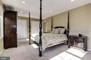 Master Bedroom with 2 Closetss - 5720 CROWNLEIGH CT, BURKE