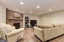 Recessed Lighting throughout this Family Room - 5720 CROWNLEIGH CT, BURKE
