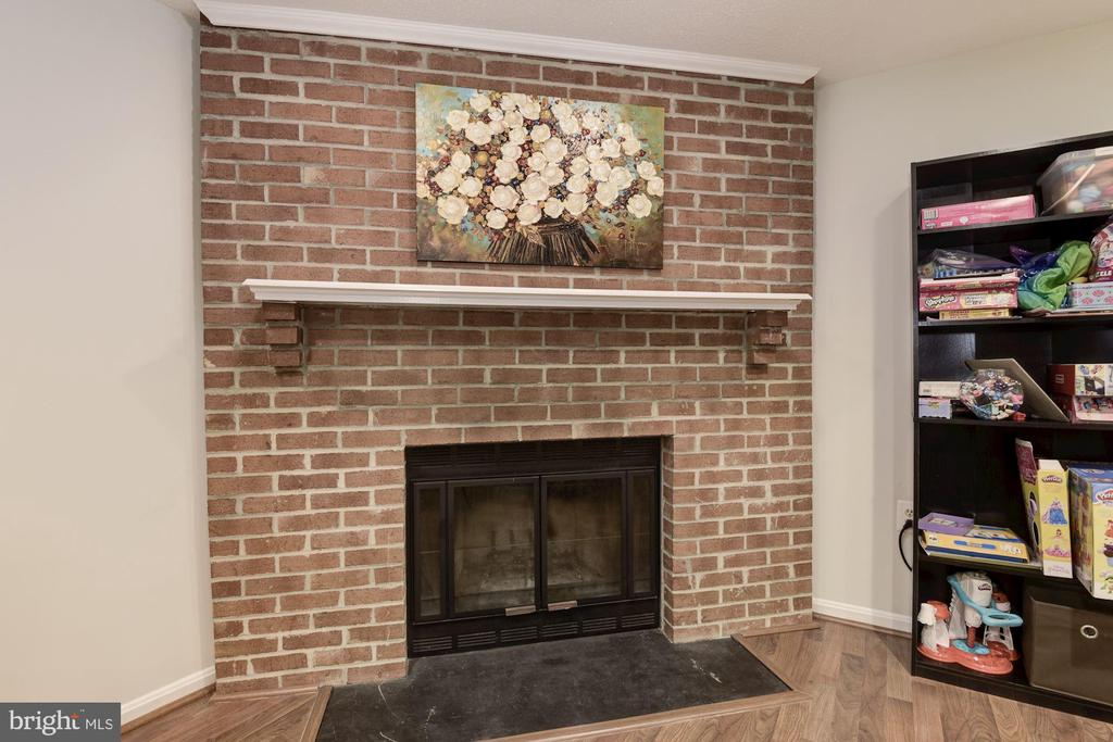 View of Brick Wood Burning Fireplace - 5720 CROWNLEIGH CT, BURKE