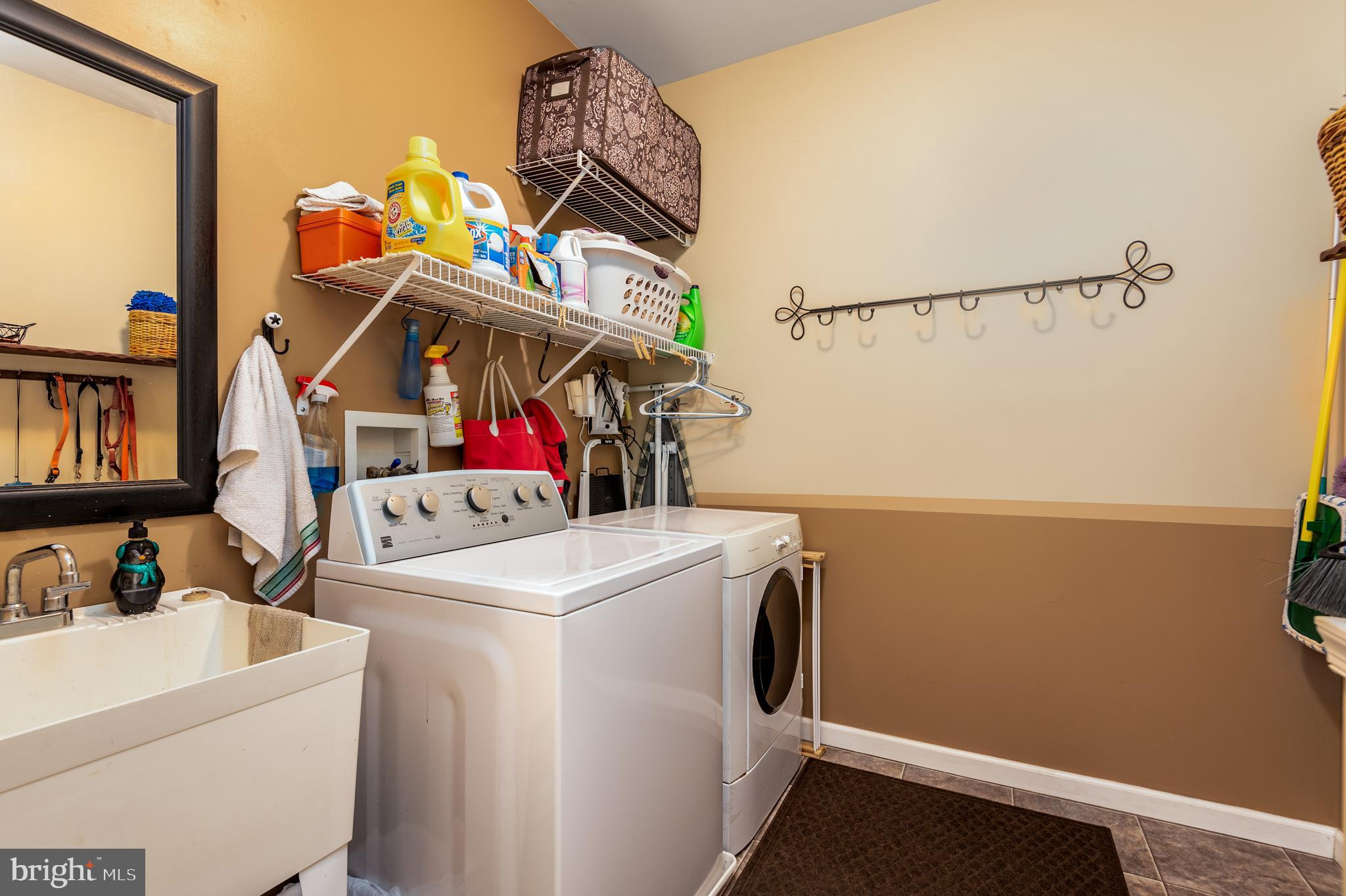 Laundry Room with Utility Tub
