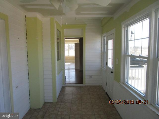 Enclosed rear porch