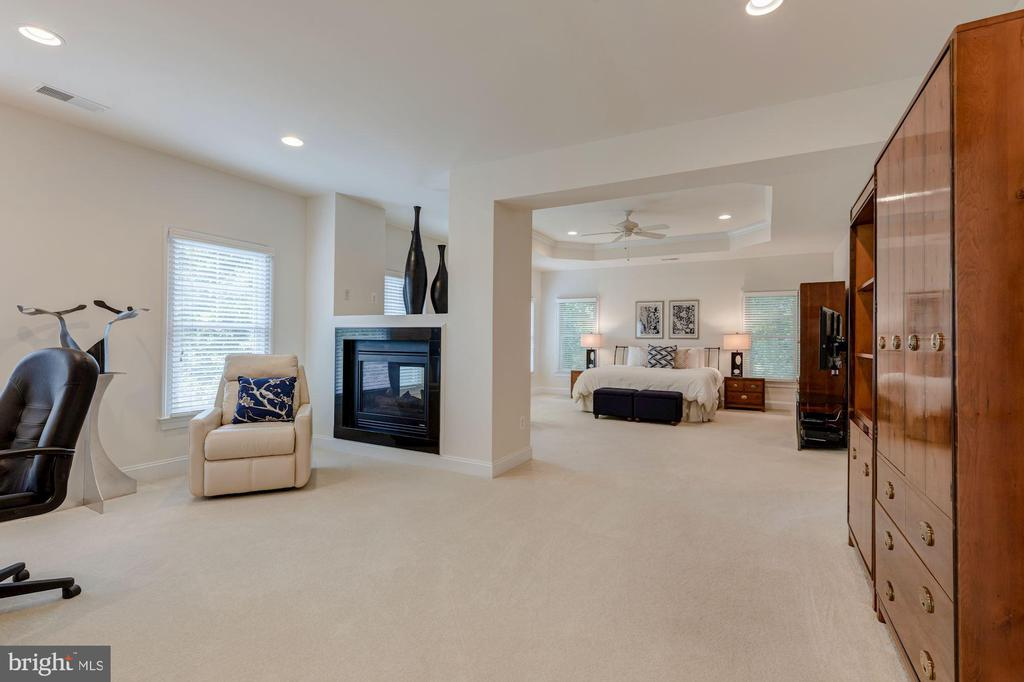 Master Suite with Gas Fireplace - 3406 N DICKERSON ST, ARLINGTON
