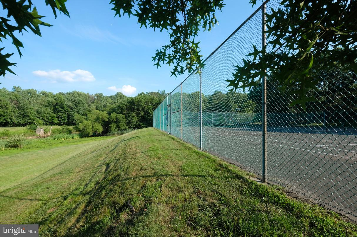 Beautiful landscape and tennis courts