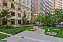 Private secured courtyard - 888 N QUINCY ST #210, ARLINGTON