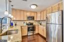 Kitchen with stainless steel appliances - 888 N QUINCY ST #210, ARLINGTON