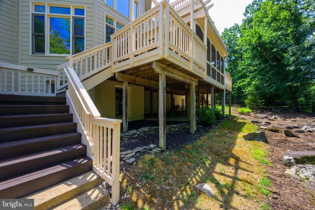 Rear Exterior / Patio - 12100 WALNUT BRANCH RD, RESTON