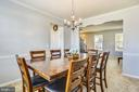 Large Dining Room - 10 CORNERSTONE DR, STAFFORD