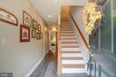 Hardwood stairs and new laminate on entry level - 6922 LITTLE FALLS RD #6922, ARLINGTON