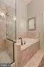 Separate soaking tub and oversized shower - 6922 LITTLE FALLS RD #6922, ARLINGTON