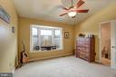 2nd bedroom with vaulted ceiling and fan - 6922 LITTLE FALLS RD #6922, ARLINGTON