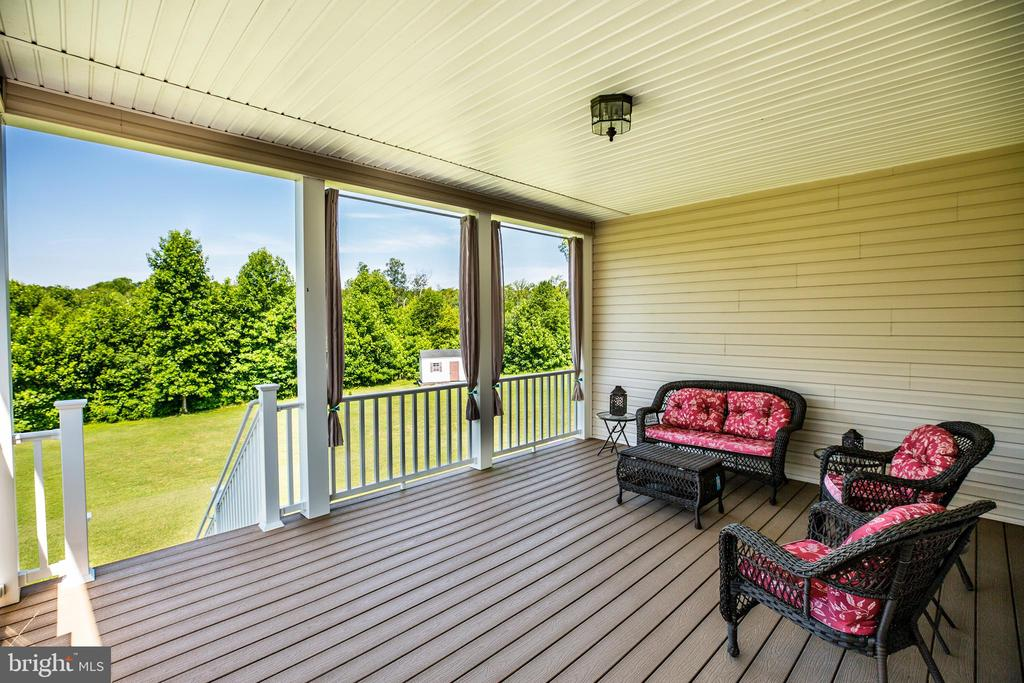 Covered deck off of the kitchen - 6917 CLOUDY WAY, SPOTSYLVANIA