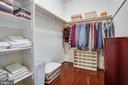 Master Bedroom Walk in closet - 6917 CLOUDY WAY, SPOTSYLVANIA