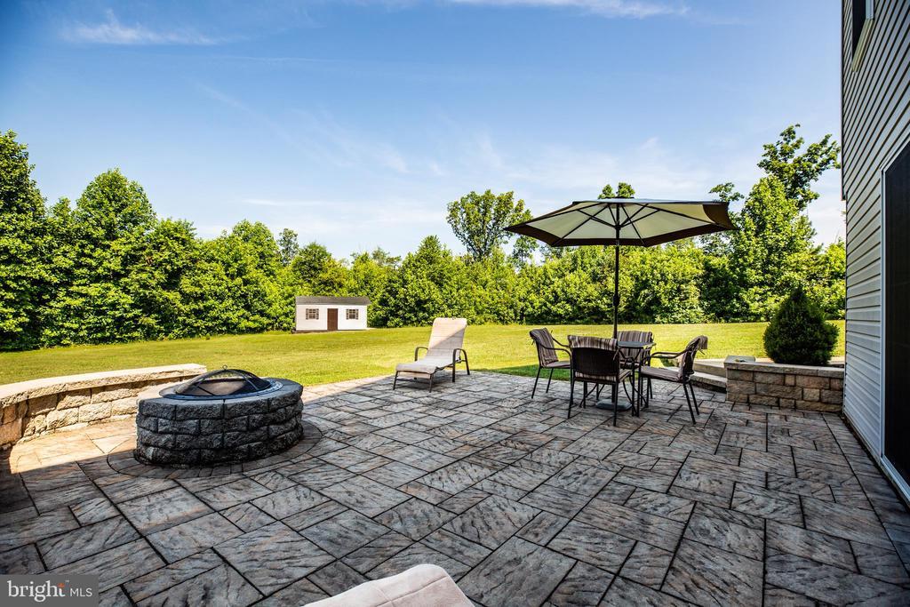 Stone patio outside of basement - 6917 CLOUDY WAY, SPOTSYLVANIA