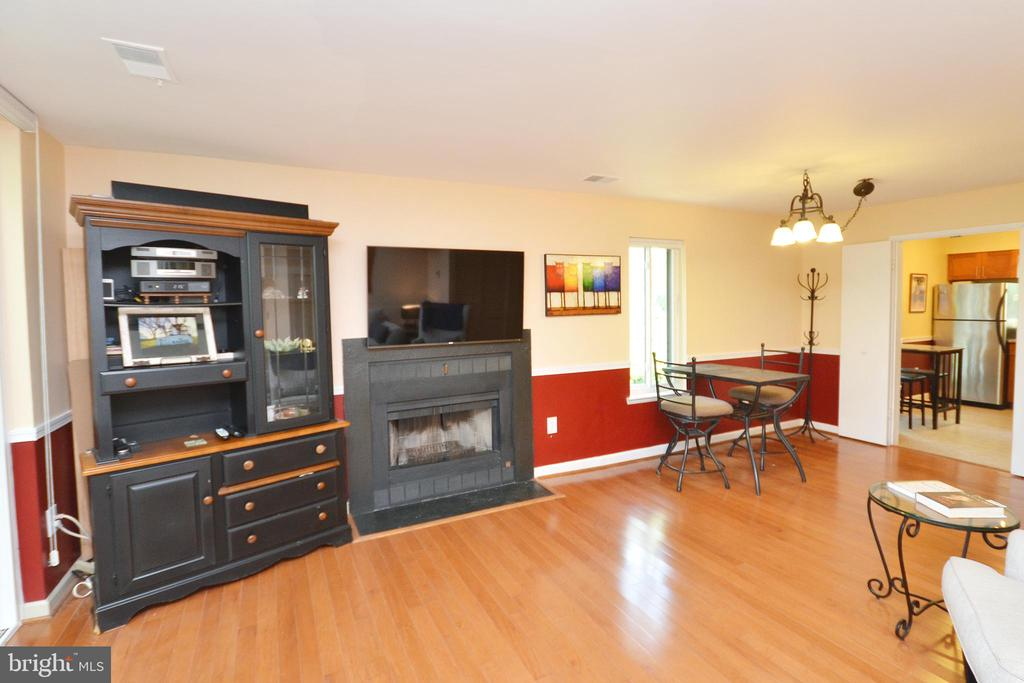Living Room with Wood Burning Fireplace - 11214 BEAVER TRAIL CT #12, RESTON
